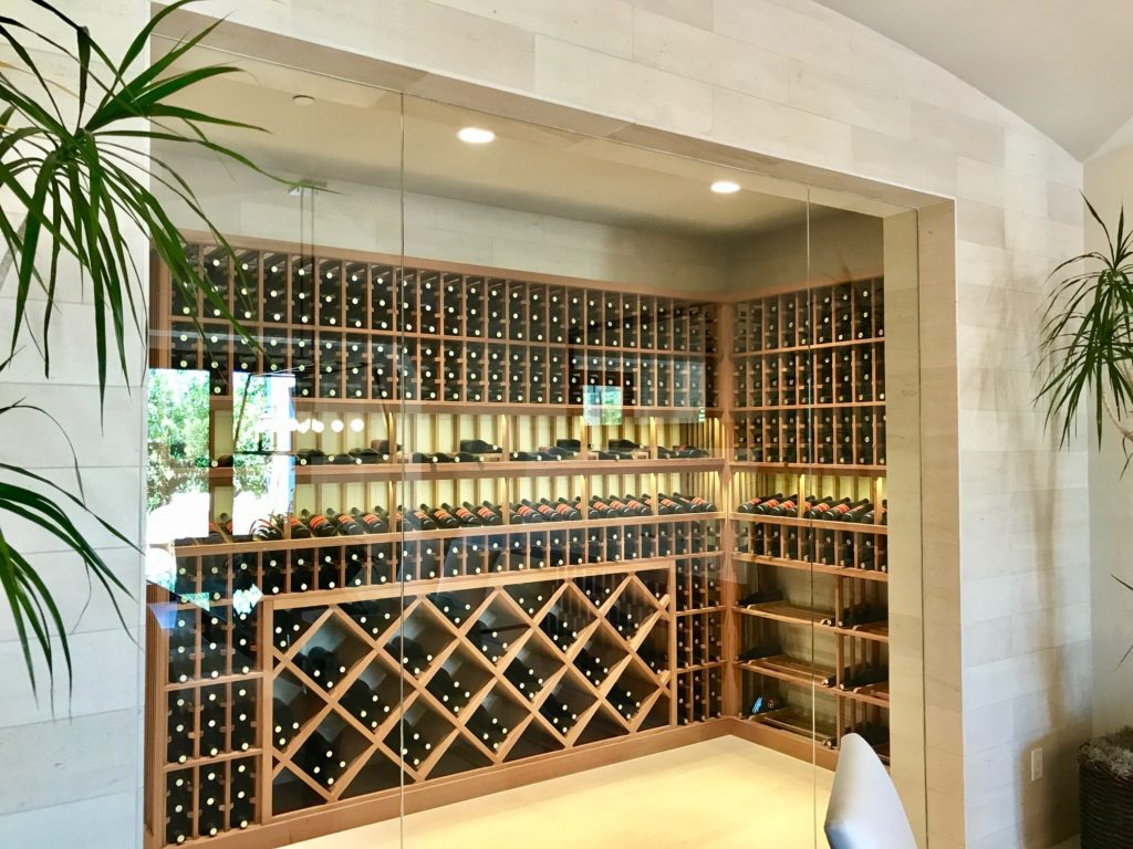 wine cellar in new home remodel