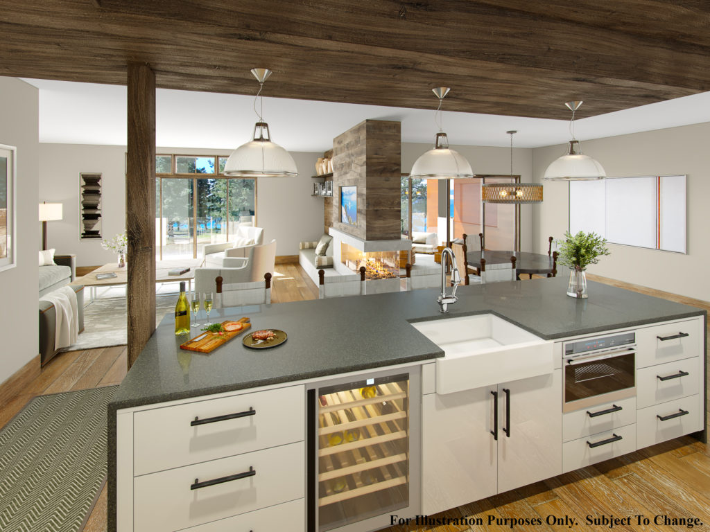 condos at Tahoe Beach Club Kitchen